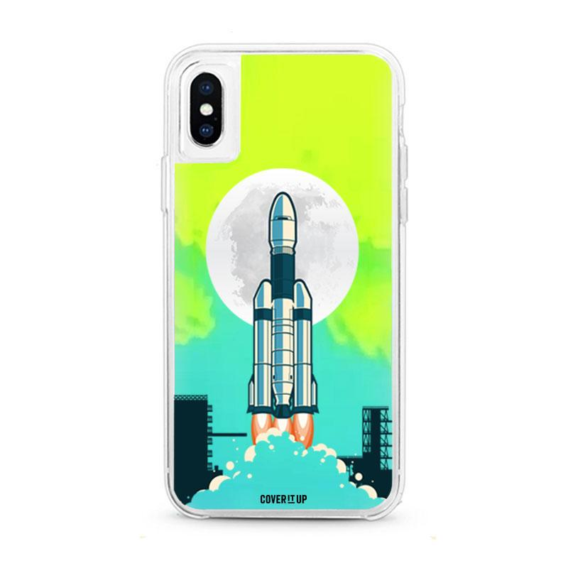 Apple Phone Case Chandrayaan iPhone X Neon Sand Glow Case