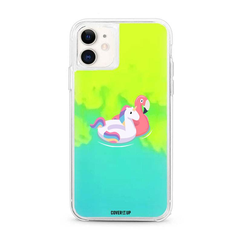 Apple Phone Case Flamingo iPhone 11 Neon Sand Glow Case