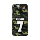Official Chennai Super Kings Dhoni Camouflage iPhone 7 Plus 3D Case