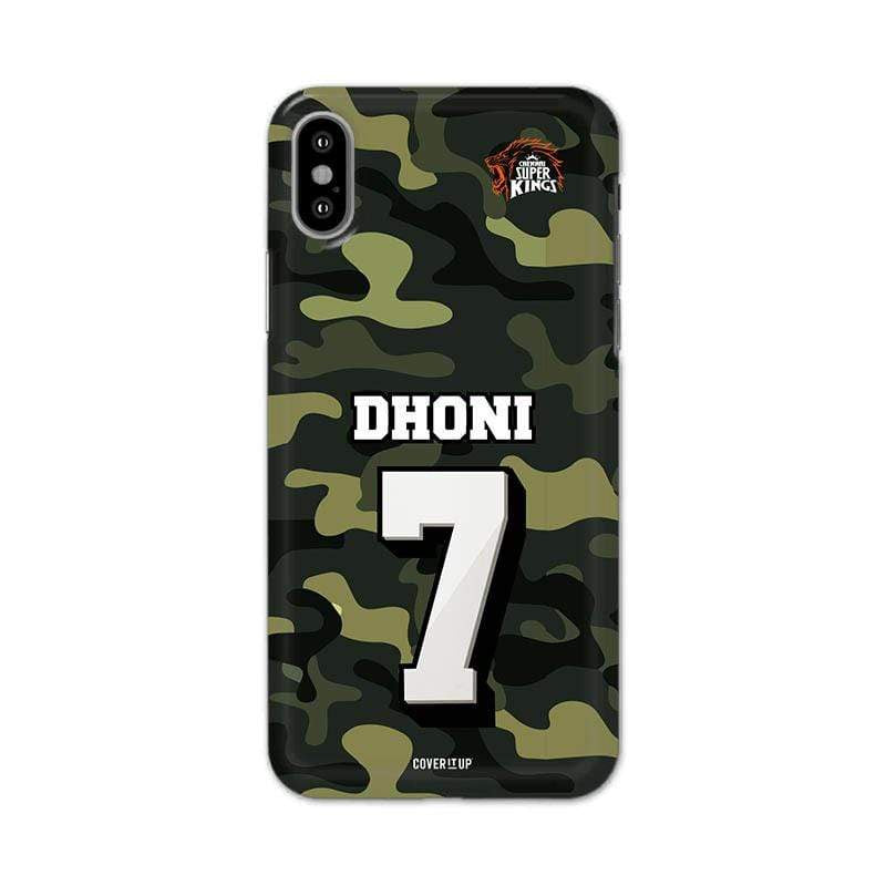 Official Chennai Super Kings Dhoni Camouflage 3D Case