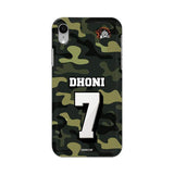 Official Chennai Super Kings Dhoni Camouflage iPhone XR 3D Case