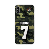 Official Chennai Super Kings Dhoni Camouflage iPhone XS 3D Case
