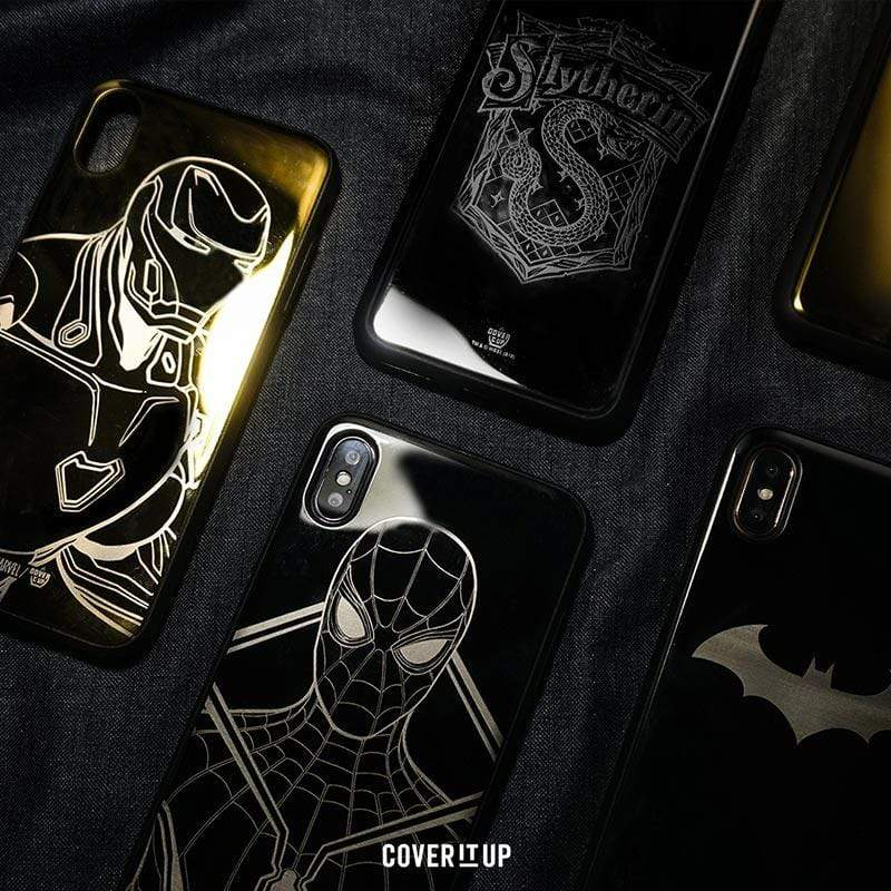 Apple Phone Case Silver Official DC Batman Face iPhone X Lustre Metal Case