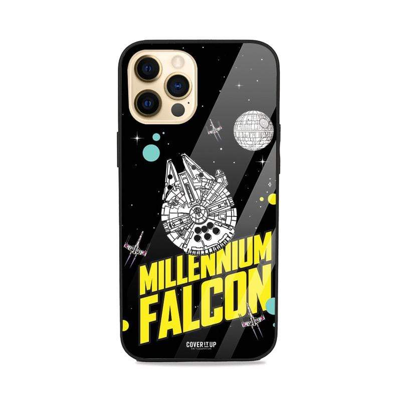 Official Star Wars Millennium Falcon iPhone 12 Pro Max Glass Case
