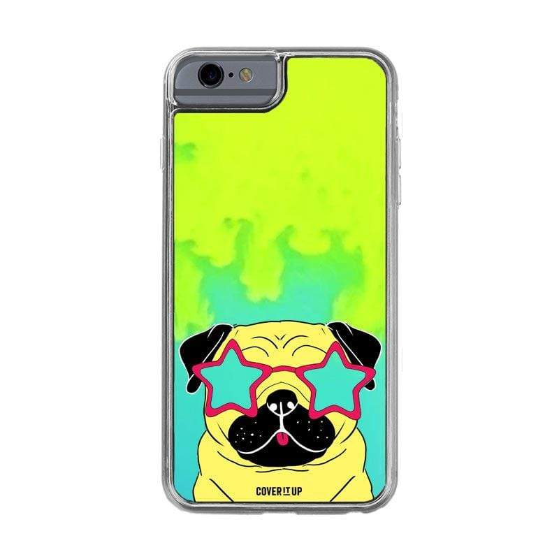 Apple Phone Case Pug iPhone 6/6s Lime Sorbet Neon Sand Glow Case