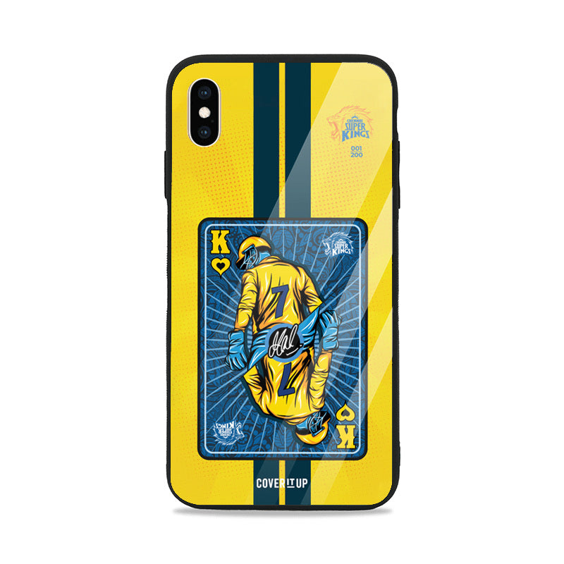 Official Chennai Super Kings King Of Hearts Limited Edition Glass Case