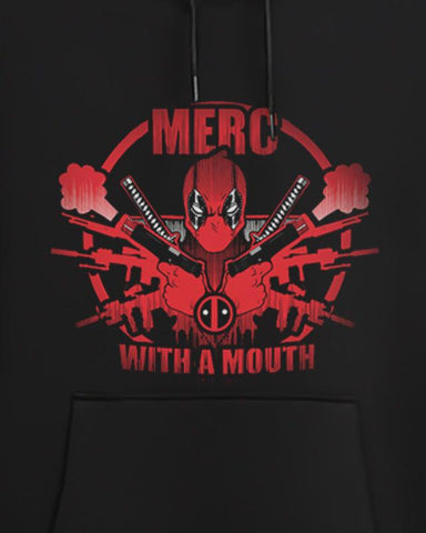 Cover It Up Hoodie Official Marvel Deadpool Merc With A Mouth Hoodie