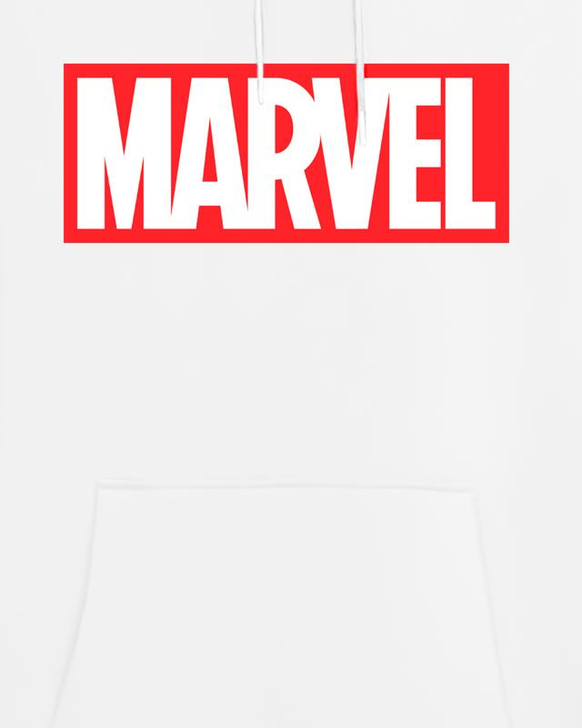 Cover It Up Hoodie Official Marvel Logo White Hoodie