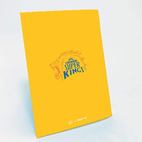 Cover It Up Stationary Official Chennai Super Kings CSK Outta Chepauk Flip Note book