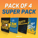 Cover It Up Stationary Official Chennai Super Kings CSK Super Pack Combo Flip Note book
