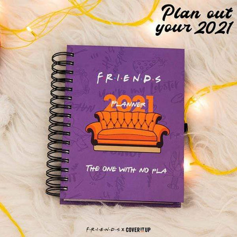 Cover It Up Stationary Official Friends Daily Planner 2021