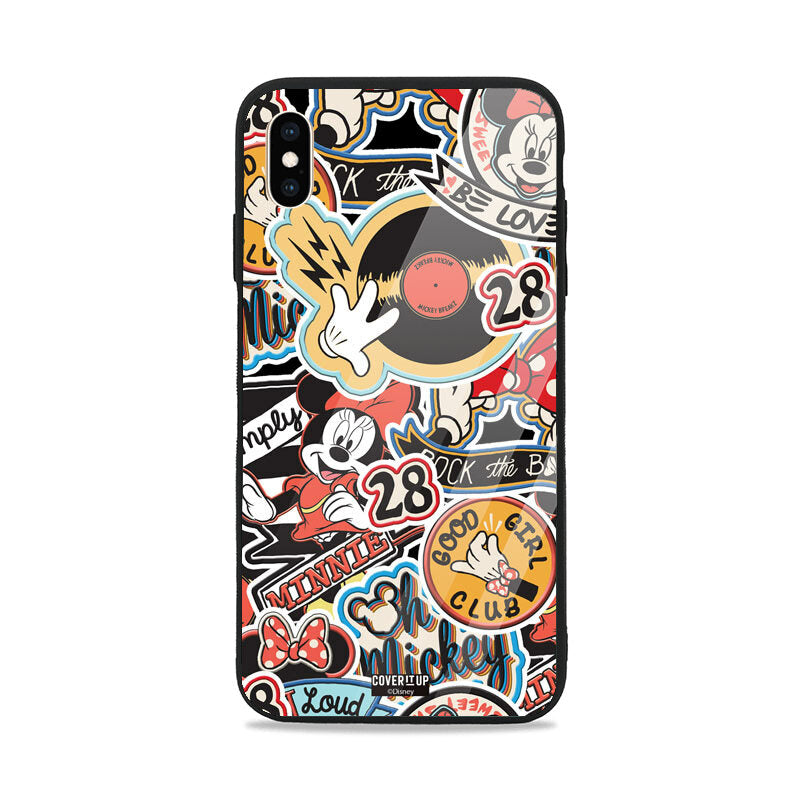 Official Disney Mickey Mouse Pattern Glass Case