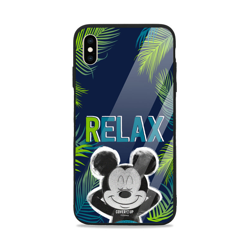 Official Disney Mickey Relax Glass Case