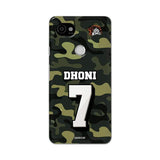 Google Phone Case Default Official Chennai Super Kings Dhoni Camouflage Pixel 2 XL 3D Case
