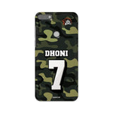 Official Chennai Super Kings Dhoni Camouflage Honor 7C 3D Case
