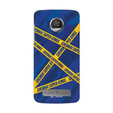 Motorola Phone Case Default Official Chennai Super Kings Cross Pattern Moto Z2 Play Hard Case