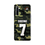Official Chennai Super Kings Dhoni Camouflage Realme 6 3D Case