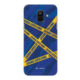 Samsung Phone Case Default Official Chennai Super Kings Cross Pattern Galaxy A6 Hard Case
