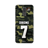Official Chennai Super Kings Dhoni Camouflage Galaxy A6 Plus 3D Case