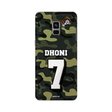 Official Chennai Super Kings Dhoni Camouflage Galaxy A8 Plus 3D Case