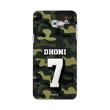 Official Chennai Super Kings Dhoni Camouflage Galaxy C7 Pro 3D Case