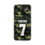 Official Chennai Super Kings Dhoni Camouflage Galaxy J6 Plus 3D Case
