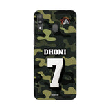 Official Chennai Super Kings Dhoni Camouflage Galaxy M20 3D Case