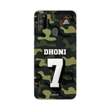 Official Chennai Super Kings Dhoni Camouflage Galaxy M30s 3D Case