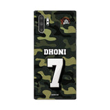 Official Chennai Super Kings Dhoni Camouflage Galaxy Note 10 Plus 3D Case