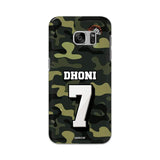 Samsung Phone Case Default Official Chennai Super Kings Dhoni Camouflage Galaxy S7 3D Case
