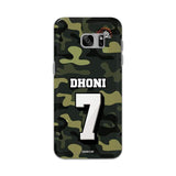 Official Chennai Super Kings Dhoni Camouflage Galaxy S7 Edge 3D Case