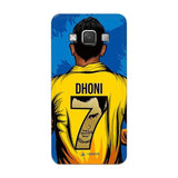 Official Chennai Super Kings Dhoni Yellove Galaxy A7 3D Case