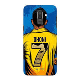 Official Chennai Super Kings Dhoni Yellove Galaxy J8 2018 3D Case