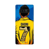 Samsung Phone Case Default Official Chennai Super Kings Dhoni Yellove Galaxy Note 8 3D Case