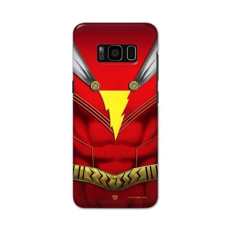 Samsung Phone Case Official DC Comics Shazam! Suit Galaxy S8 Plus 3D Case