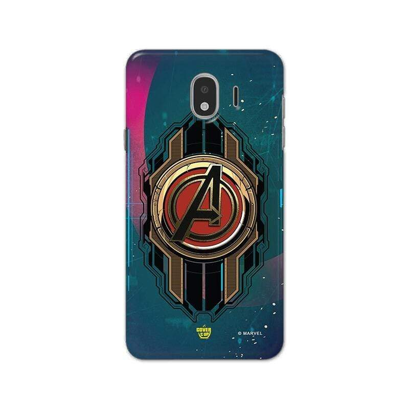 Samsung Phone Case Official Marvel Avengers Logo Galaxy J4 3D Case