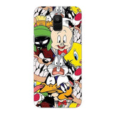 Samsung Phone Case Default Official Official Looney Tunes Family Galaxy A6 Hard Case