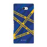 Sony Phone Case Default Official Chennai Super Kings Cross Pattern Xperia M2 Hard Case