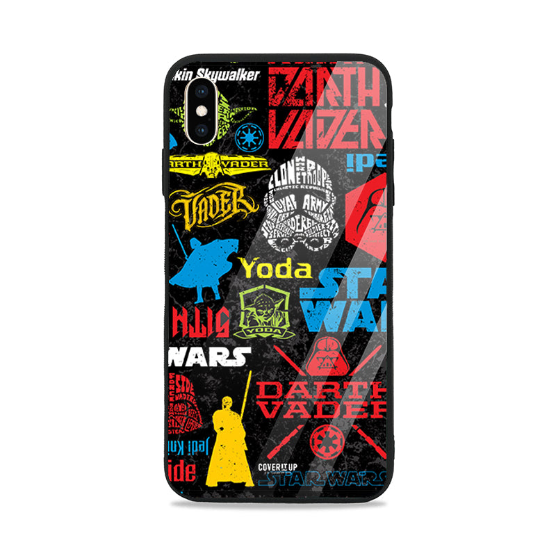Official Star Wars Classic Pattern Glass Case