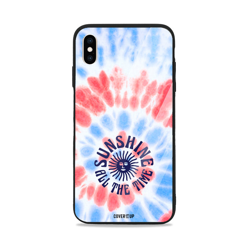 Sunshine All The Time Tie-Dye Glass Case