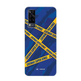 Vivo Phone Case Default Official Chennai Super Kings Cross Pattern Y51 Hard Case
