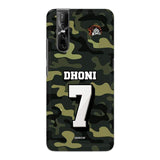 Vivo Phone Case Default Official Chennai Super Kings Dhoni Camouflage V15 Pro 3D Case