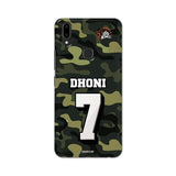Vivo Phone Case Default Official Chennai Super Kings Dhoni Camouflage V9 3D Case