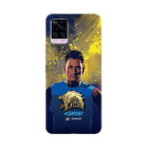 Vivo Phone Case Default Official Chennai Super Kings Dhoni Paint Sports v20 pro 3D Case