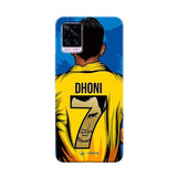 Vivo Phone Case Default Official Chennai Super Kings Dhoni Yellove v20 pro 3D Case
