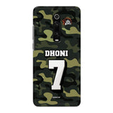 Official Chennai Super Kings Dhoni Camouflage Redmi K20 3D Case