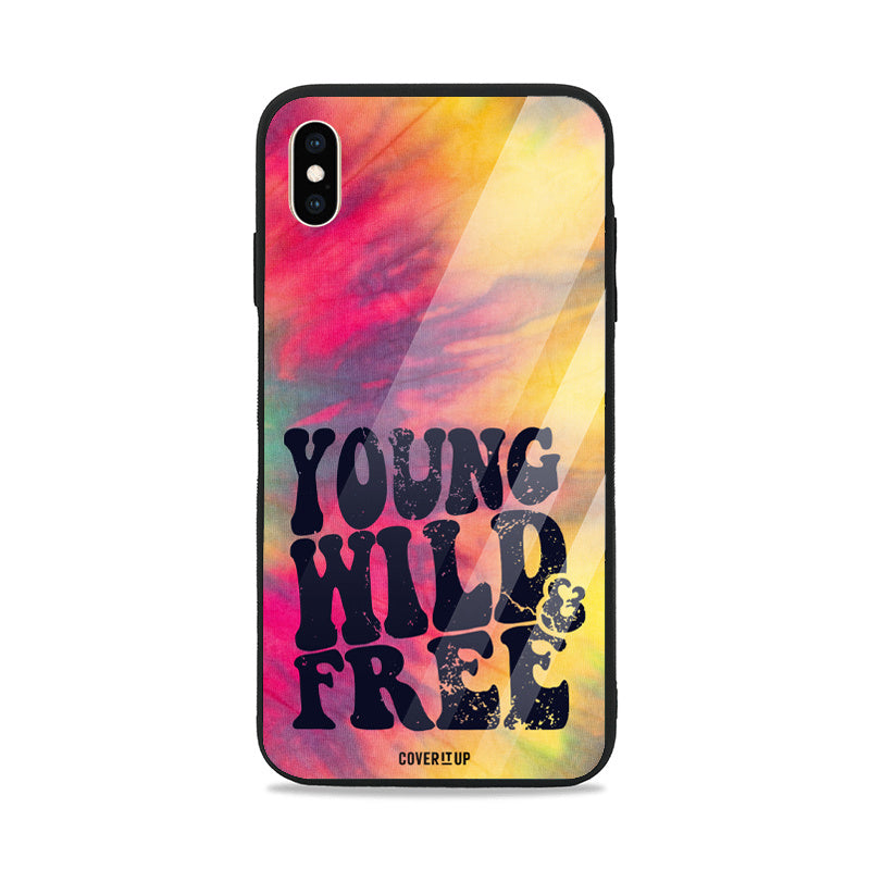 Young Wild Tie-Dye Glass Case