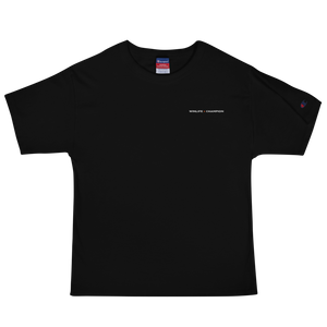 Black Winlife × Champion Embroidered T-Shirt