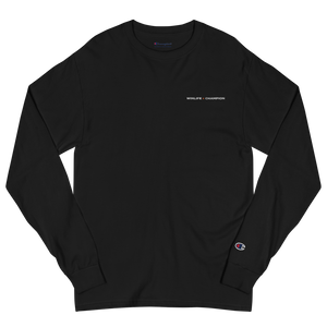 Black Winlife × Champion Long Sleeve T-Shirt