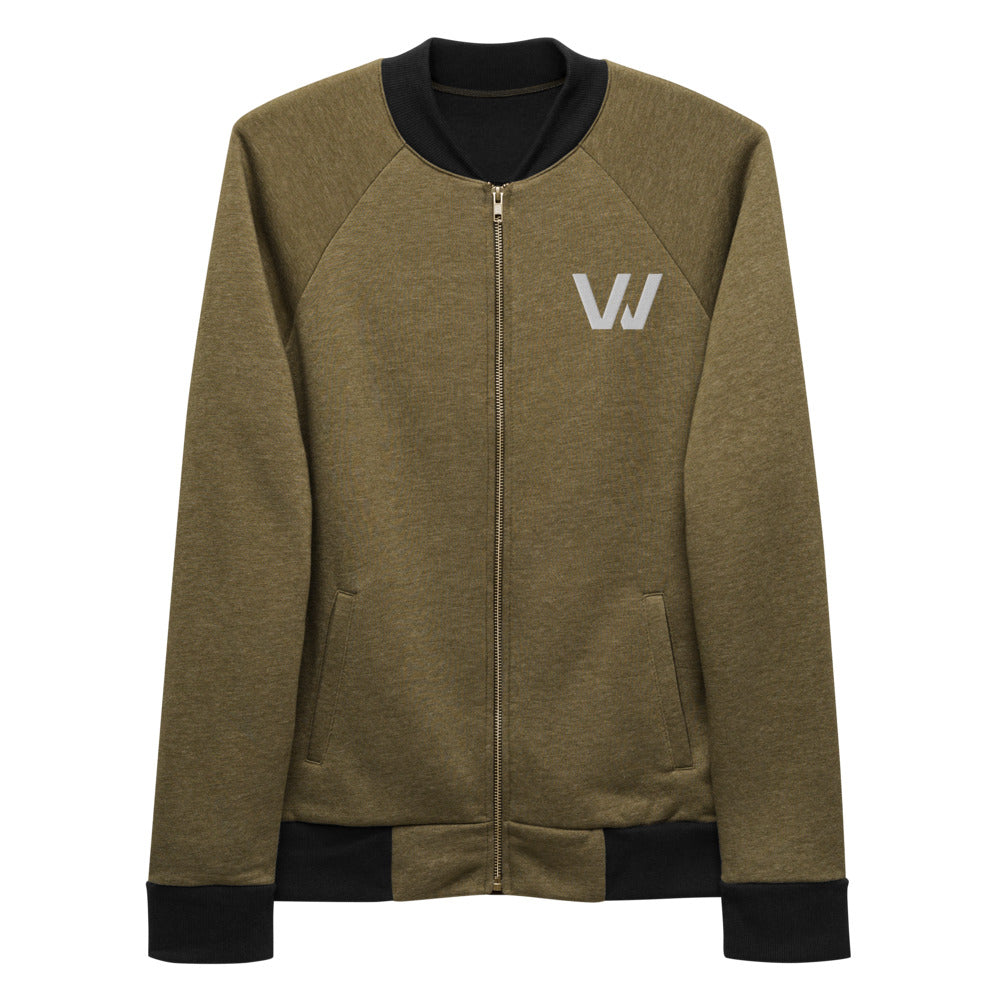 "Classic Embroidered ""W"" Bomber Jacket"